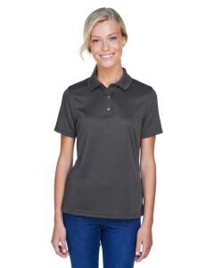 Dark Charcoal Ladies' Advantage IL Snap Placket Performance Polo