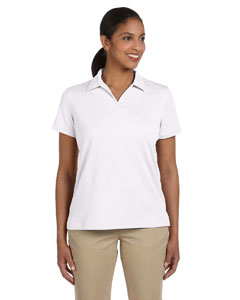 White Women's 3.5 oz. Double Mesh Sport Shirt