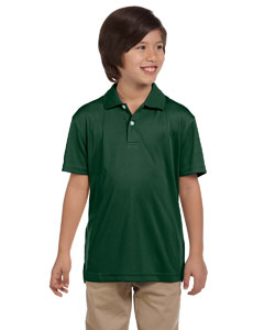 Dark Green Youth Double Mesh Sport Shirt