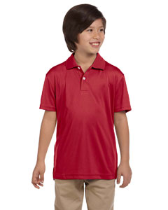 Red Youth Double Mesh Sport Shirt