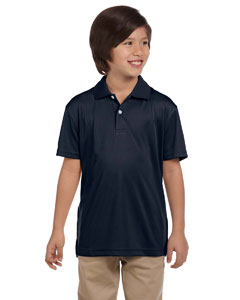Navy Youth Double Mesh Sport Shirt