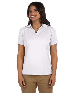 White Women's 3.8 oz. Micro Piqué Polo