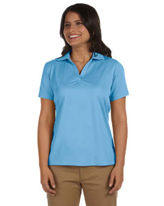 Light Blue Women's 3.8 oz. Micro Piqué Polo