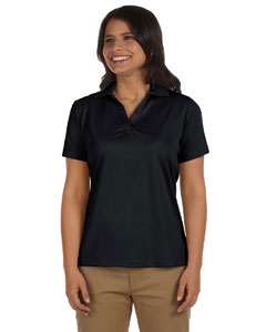 Black Women's 3.8 oz. Micro Piqué Polo