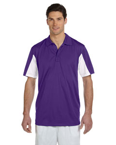 Team Purple/white Men's Side Blocked Micro Piqué Polo