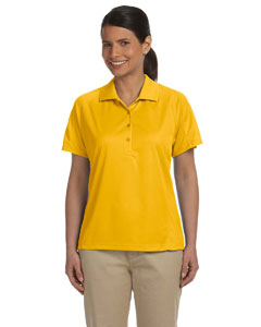 Gold Women's 3.8 oz. Polytech Mesh Insert Polo