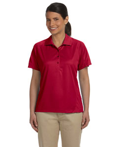 Red Women's 3.8 oz. Polytech Mesh Insert Polo