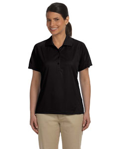 Black Women's 3.8 oz. Polytech Mesh Insert Polo