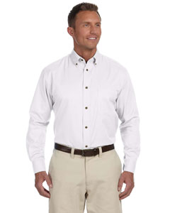 White Men's Easy Blend™ Long-Sleeve Twill Shirt with Stain-Release