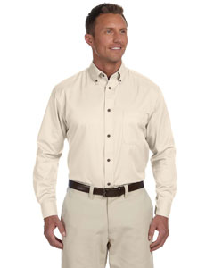 Creme Men's Easy Blend™ Long-Sleeve Twill Shirt with Stain-Release