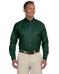 Hunter Men's Easy Blend™ Long-Sleeve Twill Shirt with Stain-Release
