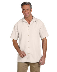 Creme Men's Barbados Textured Camp Shirt