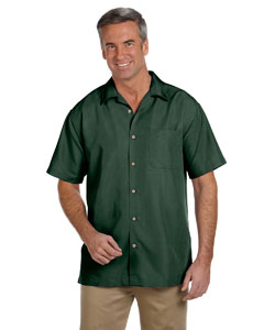 Palm Green Men's Barbados Textured Camp Shirt