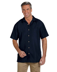 Navy Men's Barbados Textured Camp Shirt