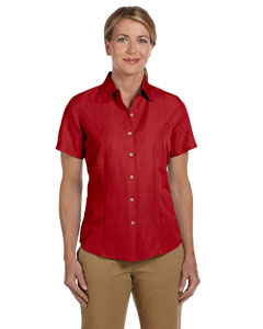 Parrot Red Women's Barbados Textured Camp Shirt