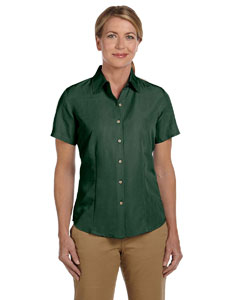 Palm Green Women's Barbados Textured Camp Shirt