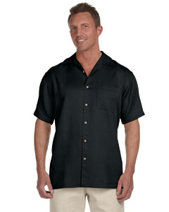 Black Men's Bahama Cord Camp Shirt