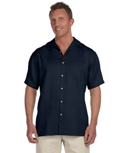 Navy Men's Bahama Cord Camp Shirt