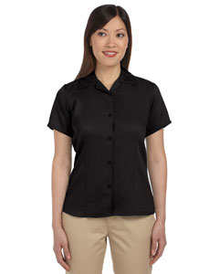 Black Women's Bahama Cord Camp Shirt