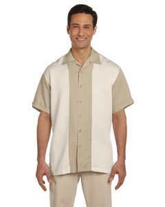 Sand/creme Two-Tone Bahama Cord Camp Shirt