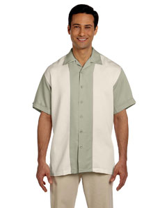 Green Mist/creme Two-Tone Bahama Cord Camp Shirt