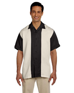 Black/creme Two-Tone Bahama Cord Camp Shirt