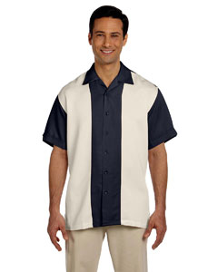Navy/creme Two-Tone Bahama Cord Camp Shirt