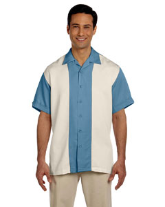 Cloud Blue/creme Two-Tone Bahama Cord Camp Shirt