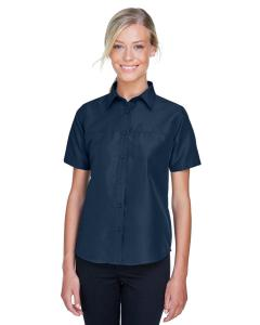 Navy Ladies' Key West Short-Sleeve Performance Staff Shirt