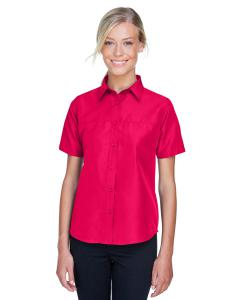 Red Ladies' Key West Short-Sleeve Performance Staff Shirt