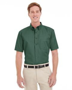 Hunter Men's Foundation 100% Cotton Short-Sleeve Twill Shirt with Teflon™