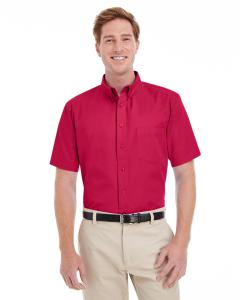 Red Men's Foundation 100% Cotton Short-Sleeve Twill Shirt with Teflon™