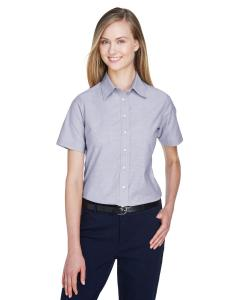 Oxford Grey Ladies' Short-Sleeve Oxford with Stain-Release