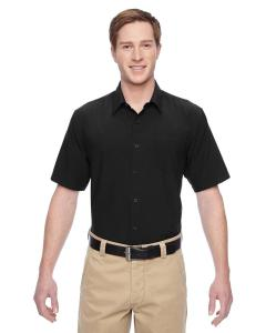 Black Men's Paradise Short-Sleeve Performance Shirt