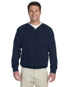 Navy/white Adult Microfiber Wind Shirt