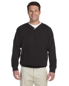 Black/white Adult Microfiber Wind Shirt