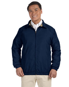 Navy/stone Microfiber Club Jacket