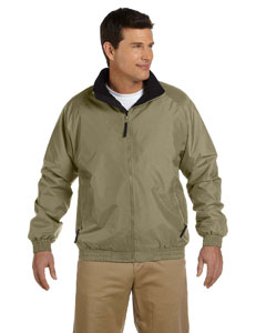 British Khaki/black Adult Fleece-Lined Nylon Jacket