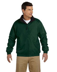 Hunter/black Adult Fleece-Lined Nylon Jacket