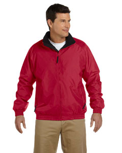 Red/black Adult Fleece-Lined Nylon Jacket