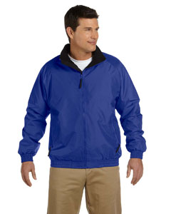 True Royal/black Adult Fleece-Lined Nylon Jacket