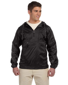 Black Adult Packable Nylon Jacket