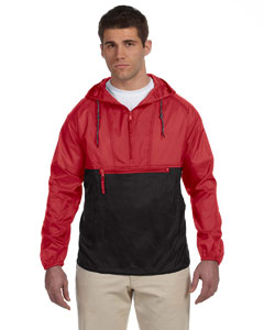 Red/black Adult Packable Nylon Jacket