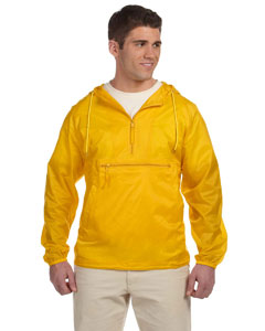 Sunray Yellow Adult Packable Nylon Jacket