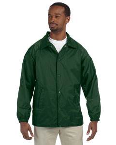 Dark Green Nylon Staff Jacket