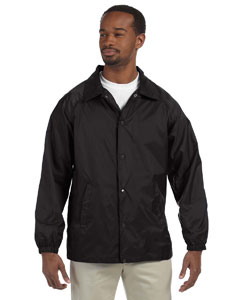 Black Adult Nylon Staff Jacket