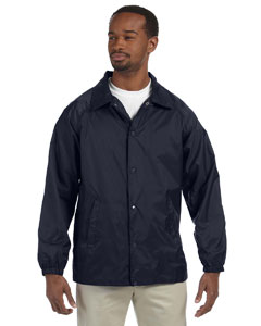 Navy Nylon Staff Jacket