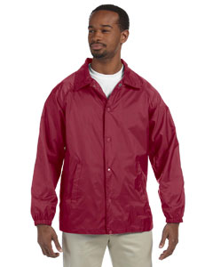 Maroon Nylon Staff Jacket
