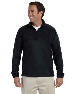 Black Adult 8 oz. Quarter-Zip Fleece Pullover