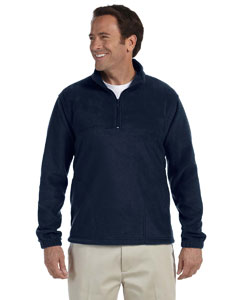 Navy Adult 8 oz. Quarter-Zip Fleece Pullover